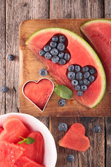 watermelon and berry fruit concept