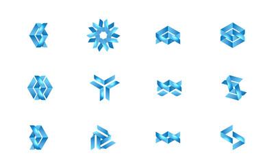 Corporative Logos Icon Set