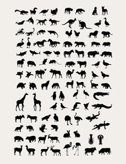 Animal  Silhouette Collection, art vector design