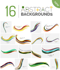 Set of smooth abstract backgrounds
