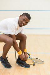 Squash player man