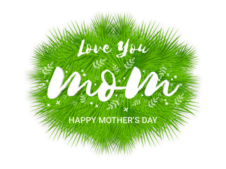 Greeting Card with stylish text for Mother's Day.