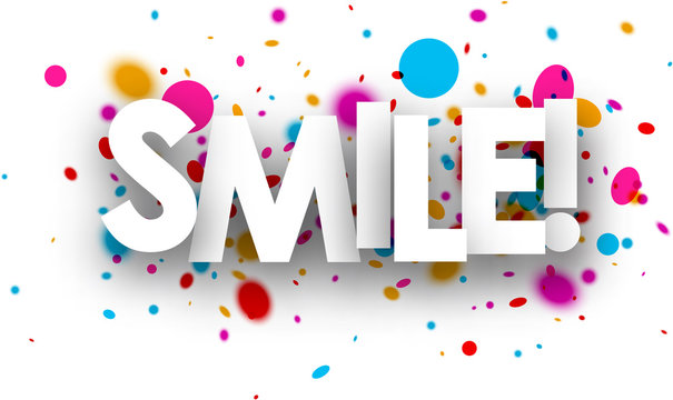 Smile paper poster.