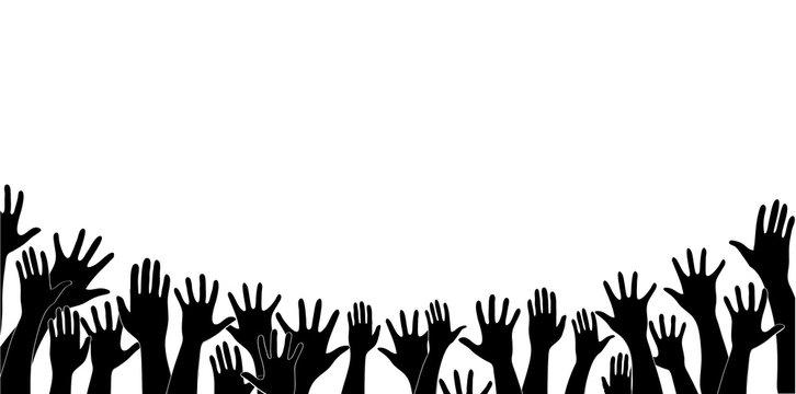 free hands up fun background art vector