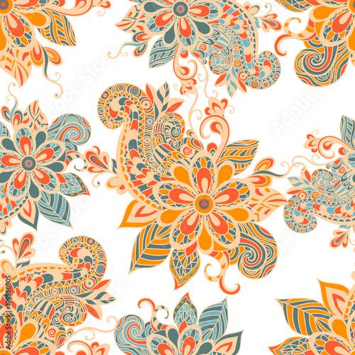 quotvector seamless pattern in boho style henna mehndi