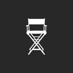 Movie director chair sign simple icon on background