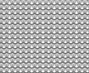 Seamless wave black pattern on white background