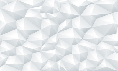 Geometric triangle white background