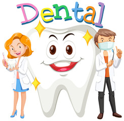 Dentists and clean tooth