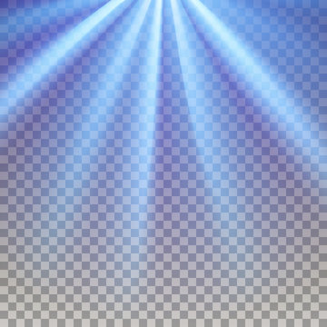 Blue flare rays
