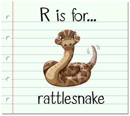 Flashcard letter R is for rattlesnake