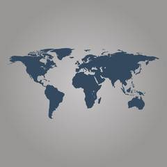 World map grey colored on a white background with pin buy this see more gumiabroncs Choice Image