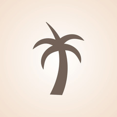 Icon Of Palm Tree.