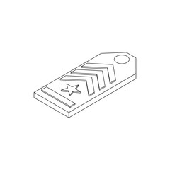 Shoulder strap icon, isometric 3d style