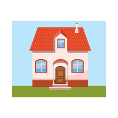 House icon in cartoon style