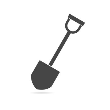 Shovel - vector icon