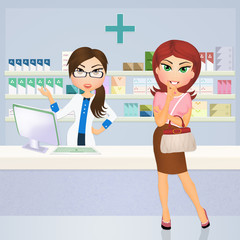 woman in the pharmacy