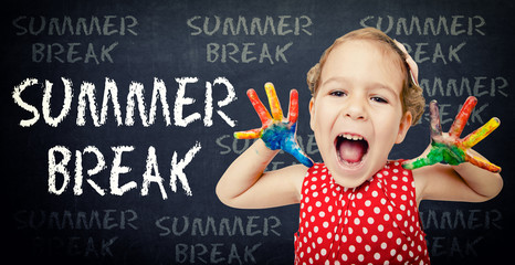 Summer break concept