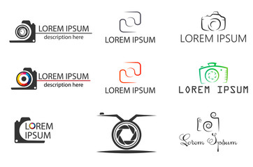 photographer, set icons and logos for the photographer. vector