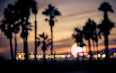 Blurred image of Santa monica, Los Angeles