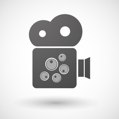 Isolated cinema camera icon with oocytes