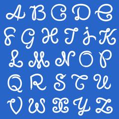 Shoe lace alphabet letters
