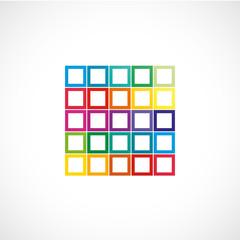 carré couleur