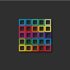 carré colorés