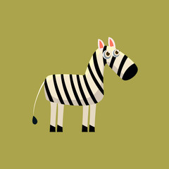 Zebra Funny Illustration