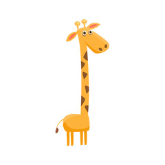 Giraffe Funny Illustration