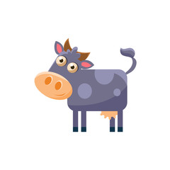Cow Simplified Cute Illustration