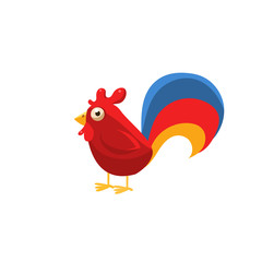 Rooster Simplified Cute Illustration