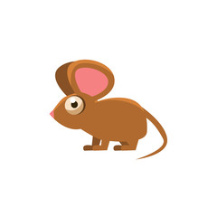 Mouse Simplified Cute Illustration