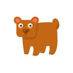 Brown Bear Simplified Cute Illustration