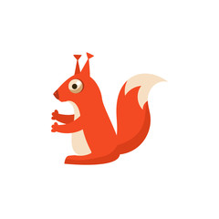 Squirrel Simplified Cute Illustration