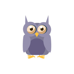 Owl Simplified Cute Illustration
