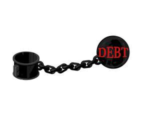 Vector illustration of a heavy dept icon.