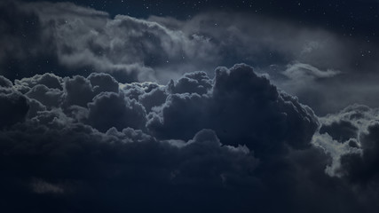 Canvas Prints Heaven Above the clouds at night