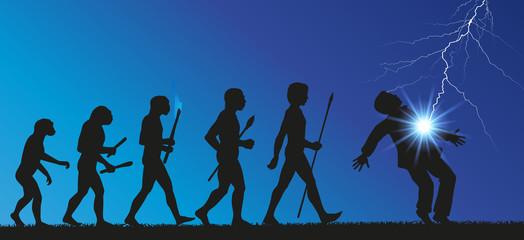 Homme foudroyé - Evolution