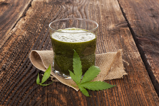 Healthy cannabis smoothie.