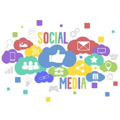 Social media vector background.
