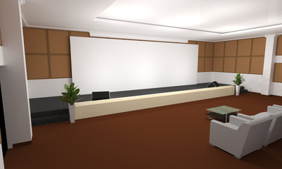 Business meeting Seminar room conference and Seats with Blank Mo