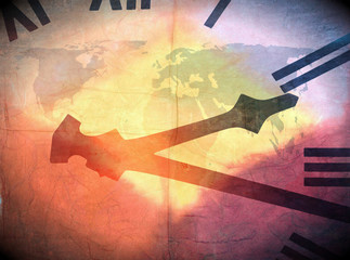World clock abstract