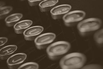Keys on an old vintage type writer