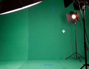Photo Studio for the filming of chroma key