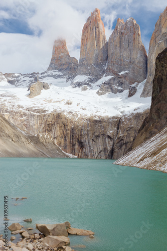 The Torres del Paine from the lookout, Chile