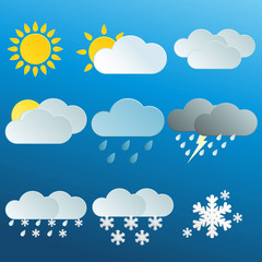 Weather Icons Set  - vector eps10
