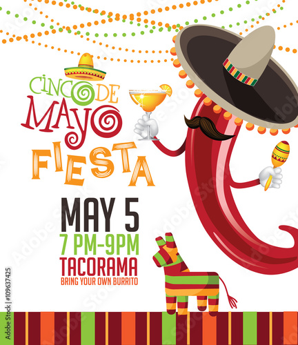 cinco de mayo bunting background cinco de mayo ad signage card