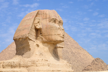 Wall Murals Egypt Sphinx and Giza Pyramids in Cairo, Egypt