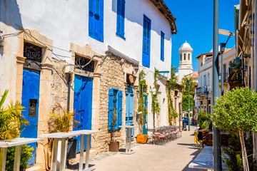 Garden Poster Cyprus Genethliou Mitellla street, a touristic street leading to Ayia N